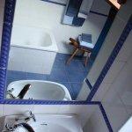 baño visto del espejo
