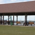 Picnic tables and porch swings