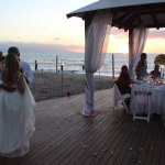 Beach wedding at the Gazebo