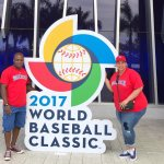 Travel Blogger Farrah Estrella at the WBC in Marlins Park, Miami, Florida