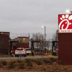 Drive-thru lanes, Chick-fil-A, Windy Hill, Marietta, GA