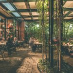 Green Valley Grill Courtyard Dining at O.Henry Hotel in Greensboro, NC