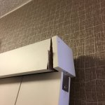 Broken bathroom door frame