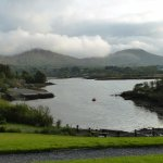 View from breakfast table at Sneem hotel.