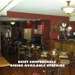 Upstairs dining room is great for a family or a quieter atmosphere. Also for larger groups !!