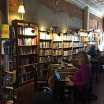This is a book store, gift shift, coffee shop combined into one location.  It is one-half block