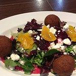 Beet Hummus Falafel Salad