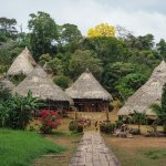 Initial welcome at the Embera Quera village