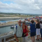 Bill and Sandy at new Agua Clara Locks Visitor Cemnter on the Panama Canal