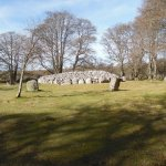 One of the Cairns, Surrounded by Standing Stones