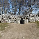 Entrance to the Cairn- follow the path into the tomb.