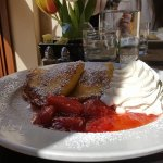 crapes with sweet goat cheese