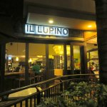 front of & entrance to Il Lupino