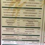display breakfast menu