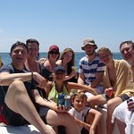 Happy faces. Happy times. This pic taken during our snorkeling adventure tour with Milos.