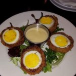 Great service and excellent food. The scotch eggs & the fish & chips were so fresh & delicious!