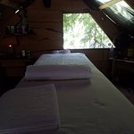 massage table in the loft. excellent massages