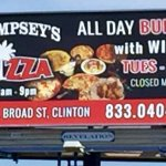 Our NEW billboard with NEW HOURS