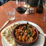 I loved this roasted vegetable tagine for lunch
