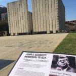 The JFK Memorial located close to the museum