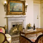 The Murray Suite Sitting Room & Fireplace