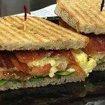 Breakfast BLT on rye toast