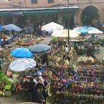 Colourful stalls in Rahba Lakdima square