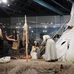 A life size display - trading with the Indians