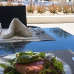 Seared tuna lunch by the pool...ahhh!