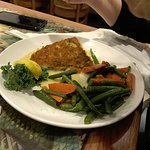 panko haddock with carrots and green beans