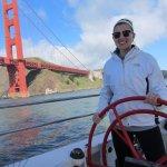 Sailing under the golden gate bridge! All smiles!