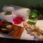 Coconut milk & honey bath setup