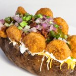 Famous Loaded Baked Potato with Fried Shrimp