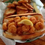 shrimp po'boy with spuds