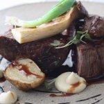 Eye fillet, Artichokes, Black garlic, King Brown mushroom