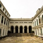 Tagore's outdoor performance space/courtyard -- pic taken from the stage (Jorasanko Thakurdalan)