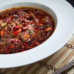 Sichuan poached sliced beef in hot chili oil