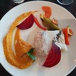Filet de merlu, purée de carottes au cumin