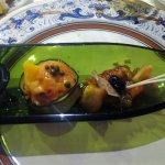 Aperitivo del menú especial: Dúo de ensaladas