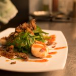 yummy scallops, crispy duck & sweet chilli!