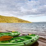 Complimentary kayaks and paddle boards available on the beach