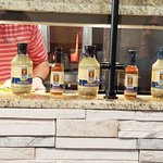 Anumber of Greek condiments for sale