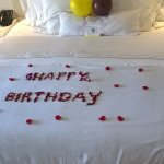 The holiday was to celerate our birthdays, this was the welcome in our room