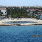 Beacg at Rennaissance from our Cruise Ship Departing Aruba