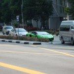 Returning In The Lamborghini Aventador