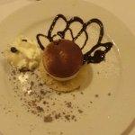Un très bon dessert en demi pension