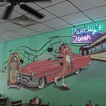 Mual in the Main Dining Room at Punchy's Diner - Concord NC
