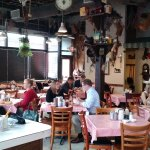 As you walk in the restaurant. Such an old timey Cracker Barrel type inside.