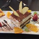 Tiramisu for one with 6 added fruits