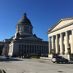 Side view of the Washington State Capitol.